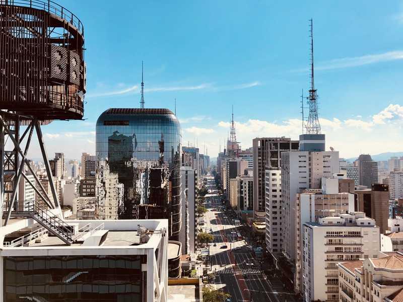 Paulista Avenue Sao Paulo aviotag aviokarte